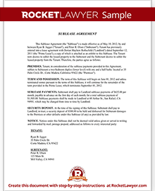 room rental agreement form template with sample
