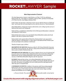 Sample Sales Representative Contract
