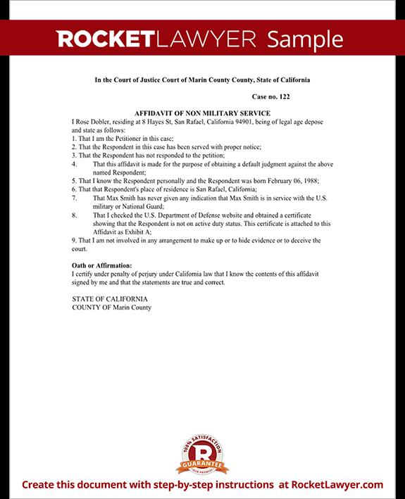 Non military affidavit form affidavit of non military service sample sample affidavit of non military service form template test spiritdancerdesigns Gallery