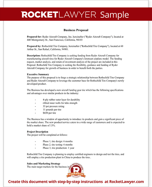 sample business proposal form template test
