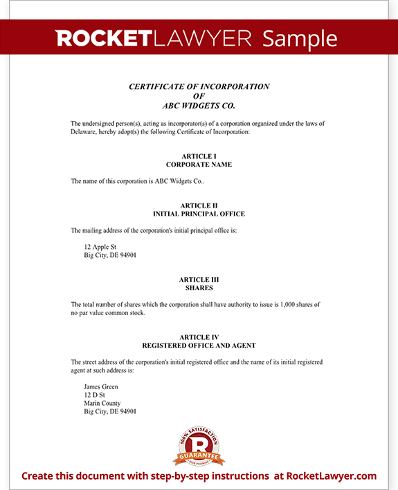 Certificate of incorporation template how i successfuly for Nebraska certificate of organization template