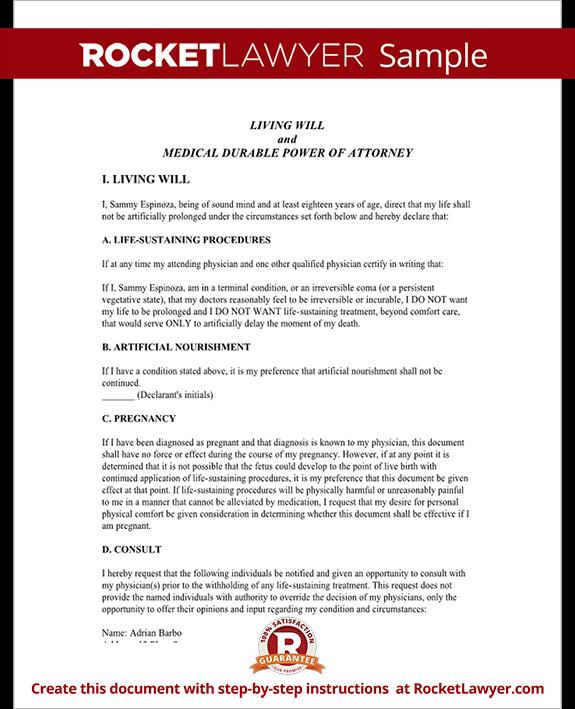 Colorado Living Will - Colorado Advance Healthcare Directive (Form ...