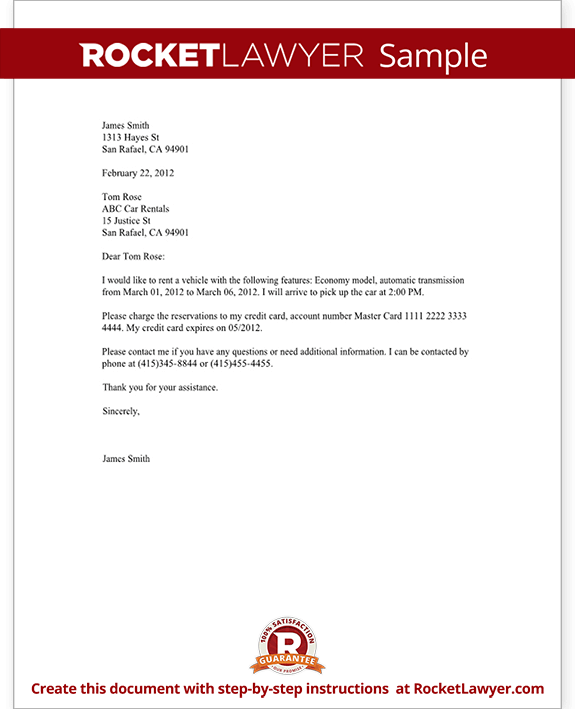 Confirmation of reservations letter template with sample spiritdancerdesigns Image collections