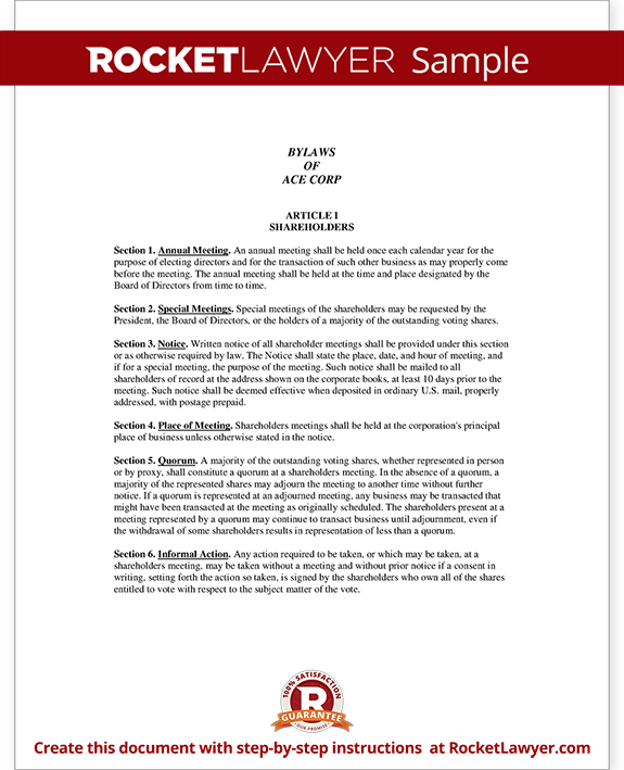 Beautiful Corporate Bylaws Form Template Test. Inside Corporate Bylaws Template Free
