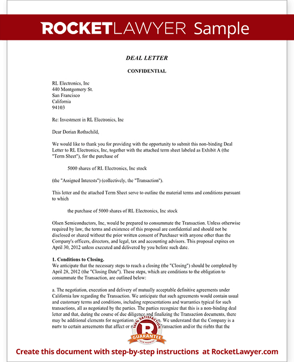company letter template