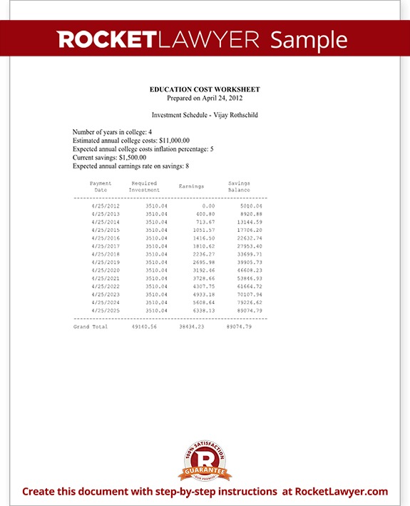 Education Cost Worksheet Of With Sle. Sle Education Cost Worksheet Form Template Test. Worksheet. College Cost Worksheet At Clickcart.co