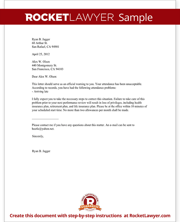 Employee warning letter templates spiritdancerdesigns