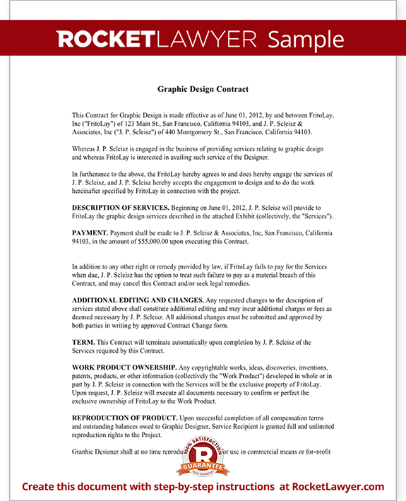 Wonderful Sample Graphic Design Contract Form Template Test.