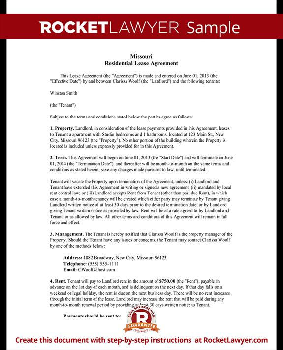 Missouri Lease Agreement
