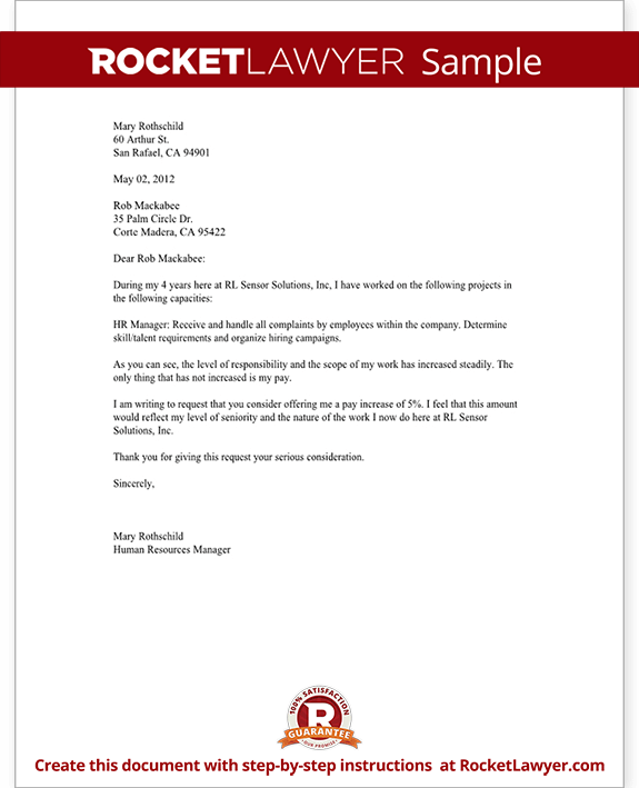 Salary increase letter asking for a raise rocket lawyer spiritdancerdesigns Choice Image