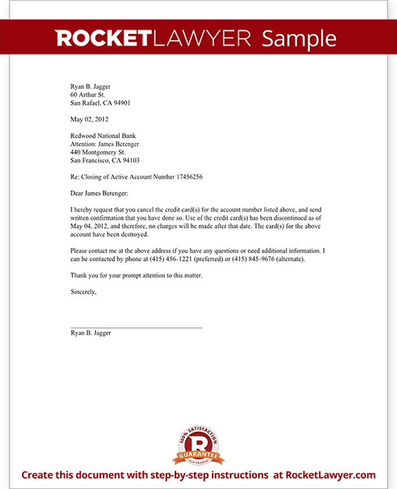 Example Of Letter To Close A Bank Account Cover Letter