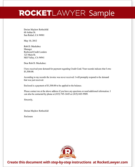 Letter To Debt Collector Debt Collector Letter Template With Sample