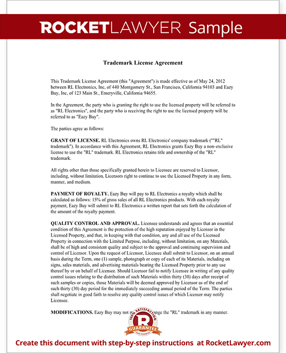 Trademark License Agreement Form - Create a Template with Sample