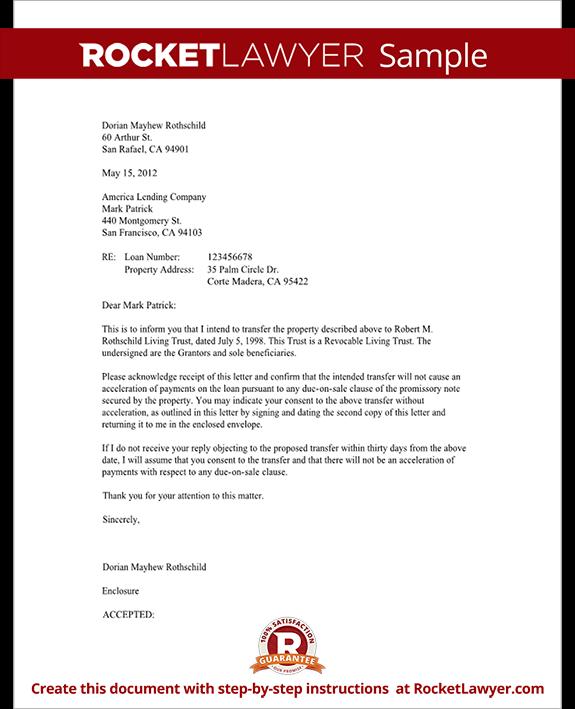 Mortgage trust letter transfer of property rocket lawyer trust letter to mortgage lender form template test spiritdancerdesigns Choice Image