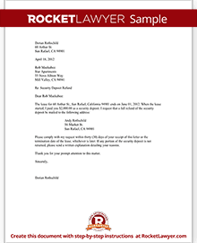 Tenants security deposit refund letter template with sample sample security deposit refund letter spiritdancerdesigns Image collections