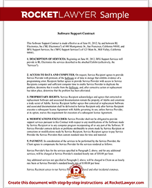 Software support contract agreement form with sample sample software support contract platinumwayz