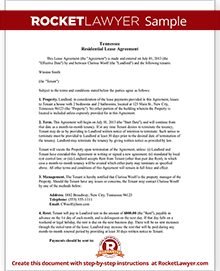 Tennessee lease agreement tn lease agreement form sample tennessee lease agreement platinumwayz
