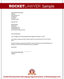 request time off letter