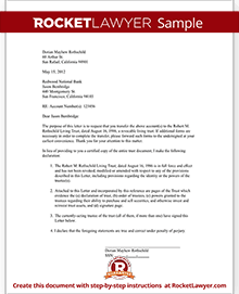 Trust letter to broker bank letter sample rocket lawyer sample trust letter to bank or broker spiritdancerdesigns Choice Image