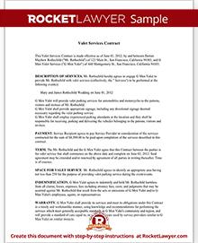 service contract template free contract template