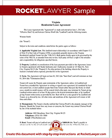 Virginia lease agreement template residential lease agreement sample virginia lease agreement platinumwayz