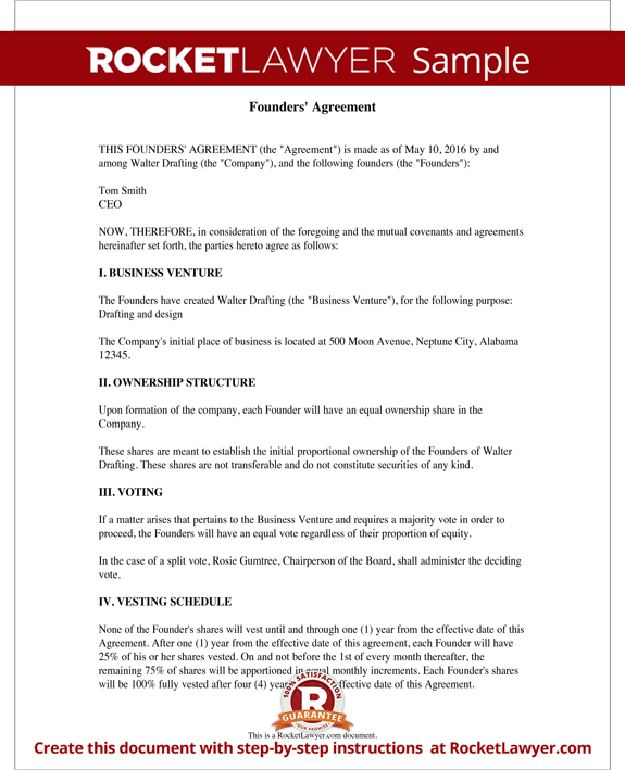 Founders Agreement