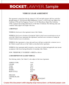 Nice Sample Vehicle Lease Agreement