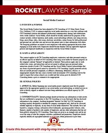 Social media contract company social media contract for sample social media contract platinumwayz