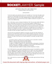 Sample Advance Directive